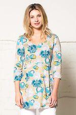 *SALE* NOMADS 3/4 Sleeve Organic Cotton Jersey Floral Summer Top Fair Trade LN46