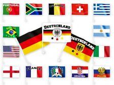 Fußball WM Soccer Cup Autoflagge Auto-Fahne Länderflagge Länderfahne Auto