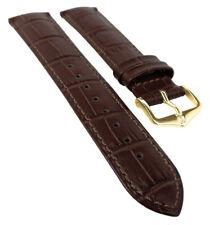 HIRSCH DUKE L | Uhrenband italienisches Leder / Alligator-Optik / d.braun 31025