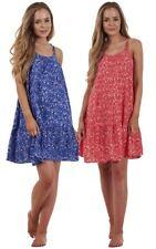 Ladies Gorgeous Woven Flippy Holiday Sleeveless Summer Short Beach Dress