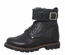 Momino 6407M Kinder Boots Stiefeletten Leder Lammfell Unisex grau Gr. 24-32 Neu