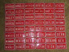 U S A Mini Bike Bicycle Vanity Metal Red License Plate Sign Armand - Bipper