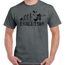 Skydiving Evolution - Mens Funny Free Fall T-Shirt Parachuting Skydiver Skydive