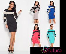 Elegant & Trendy Women's Cocktail Dress Boat Neck Bodycon Sizes 8 -14 FK1209