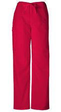 Scrubs Cherokee Workwear Men's Drawstring Pant 4100 REDW Red Free Shipping