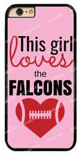 Chic Girl Love Atlanta Falcons Pink Hard Phone Case For iPhone/Samsung/Sony/LG