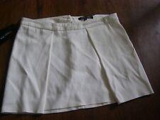 mini jupes Patrizia Pepe neuves taille S blanc cassé ou orange sanguine yoox