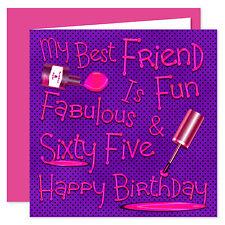 My Best Friend Happy Birthday Card - Age Range 11 - 75 Years - Naughty Nails BFF