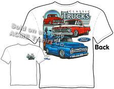 Truck Shirts 53 54 55 56 F-100 Ford T Shirts 64 65 66 Pickup Sz M L XL 2XL 3XL