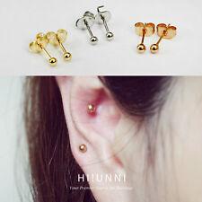 20g 3mm tiny ball 316L Stainless Steel stud earrings, rose gold earings, 1pair
