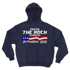 "Dwayne The Rock"" Johnson ""2020"" Donald Trump Hooded SWEATSHIRT HOODIE"