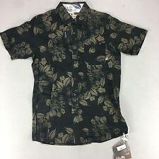 Animal Plain Floral Short Sleeve Polo T-Shirt - Black - S