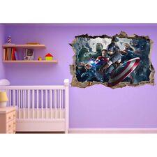 Stickers 3D trompe l'oeil Avengers Captain América réf 23219