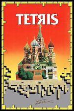 Tetris Retro 80's Signed Poster |4 Sizes| PC Nintendo NES Gameboy Atari AmigaC64