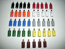 20 Stecker  Querlochstecker  mit 2,6 mm Stift  Farbe nach Wahl  NEU