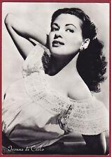 YVONNE DE CARLO 02a o IVONNE ATTRICE ACTRESS CINEMA MOVIE Cartolina VIAGG. 1957
