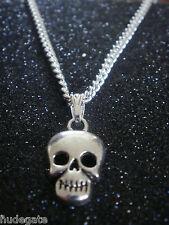 10 Collane Placcato Argento con Teschio Halloween ciondoli all'ingrosso di gioielli