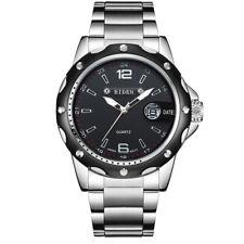 BIDEN Mens Watch Fashion Business Waterproof Quartz Stainless Steel Military
