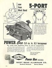 Vintage neat 1961 West Bend Power Bee Go-Kart Engine Ad