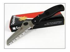 SPYDERCO ATLANTIC SALT Black H1 Serrated - SC89SBK - Couteau Spyderco Japan