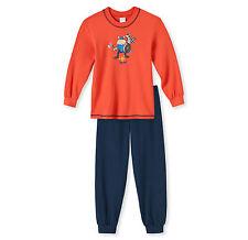 SCHIESSER Jungen Schlafanzug Pyjama lang WIKINGER Gr 92 98 104 116 128 140 NEU