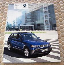 BMW OFFICIAL X3 2.5i & 3.0i PRESTIGE SALES BROCHURE 2005 USA EDITION