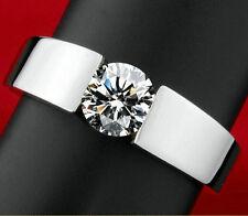 Eleganter Design-Ring Silber plattiert mit Zirkonia Verlobungsring Partnerring