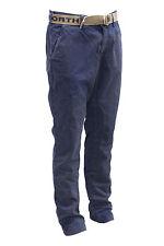 Pantalone lungo da uomo blu North Sails casual tasche moda cintura inclusa