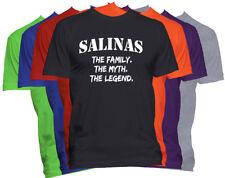 SALINAS Last Name Shirt Custom Name Shirt Family Reunion Family Name T Shirt