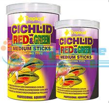 RED&GREEN STICKS FOR MEDIUM OMNIVOROUS CICHLIDS 90g/250ml 360g/1L TUBE TROPICAL