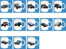 300ml Keramik Becher mit Motiv: Land / Range / Rover Auto Modelle Kaffee Tasse