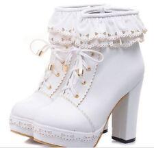 stivali stivaletti scarpe donna bianco tacco 11 cm simil pelle comodi 9150