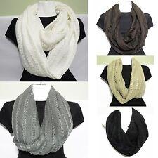 Solid Infinity Scarf  Style Fashion Womens Girl's Shawl Wrap Stole nack warmer