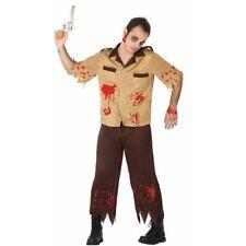 Costume carnevale halloween zombie uomo adulto festa vestito casacca pantalone