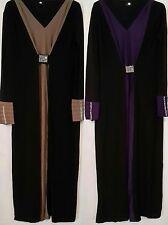 Ladies NUOVO Caftano Abaya Jilbab Islamico Cocktail Maniche Lunghe Maxi Abito Loose