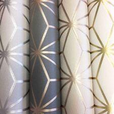 Pulse Star Geometric Wallpaper Textured Glitter Metallic Modern FIne Decor