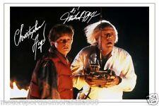MICHAEL J FOX & CHRISTOPHER LLOYD BACK TO THE FUTURE SIGNED 6x4 PHOTO PRINT