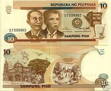 Philippines Billet 10 Piso 1998 P187 SERIE NOIRE NEUF