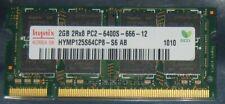 2GB 4GB 6GB 8GB HYNIX RAM DDR2 800MHz SO-Dimm pol.200 PC2-6400S HYMP125S64CP8-S6