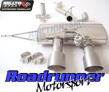 Milltek SSXVW165 Golf R MK6 2.0 TSI Exhaust Cat Back Non Res Titanium Tails