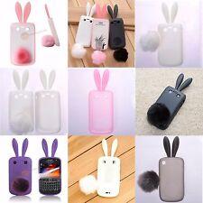 TPU Rabbit-Hase Bunny Case mit Schlappohren Silikonhülle.Blackberry