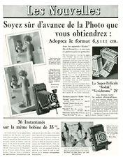Publicité ancienne pellicule Kodak le format 6,5x11cm 1935 issue de magazine