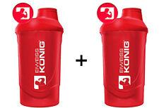 2x Zwei Shaker Eiweißshaker WAVE edles Design Proteinshaker ROT + Gratis Bonus