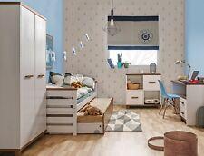 Massivholz Jugendzimmer Set ALAN 6-tlg. mit wahlweise Regal oder Kommode Weiß