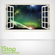 SPACE PLANET WALL STICKER WINDOW FULL COLOUR - LOUNGE BEDROOM WALL ART W26
