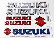 ADESIVI SUZUKI KIT MOTO SCOOTER AUTO BICI STICKERS *