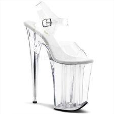"INFINITY-908 Women 9"" Extreme High Heel 5 1/4"" Platform Ankle Strap Clear Sandal"