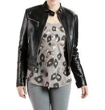 Women Leather Jacket Soft Solid Lambskin New Handmade Motorcycle Biker S M # 59