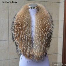 2018 Women Real Fur Collar Trim Winter Coat Fashion Scarves Lining 110cm 37230L
