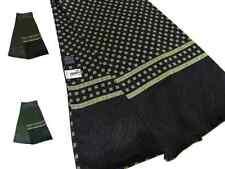 Sciarpa seta uomo tubolare nera con disegni verdi e gialli sciarpe eleganti m It